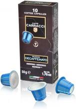 Carracci Nespresso kahvikapselit Decaffeinato 10 kpl