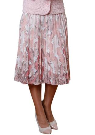 Plisserad kjol röd 48 by Atelier Goldner Schnitt