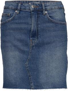 Vintage Denim Skirt Kort Nederdel Blå Gina Tricot