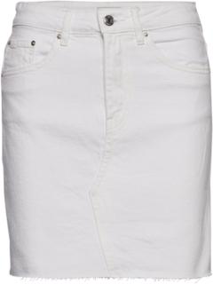 Vintage Denim Skirt Kort Nederdel Hvid Gina Tricot