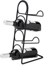 Hahn Pisa vinställ till 4 flaskor, svart