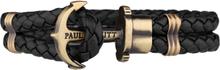 Paul Hewitt Leather Phrep Armband Mässing Svart