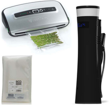 Sansaire Sous Vide + Foodsaver vakuumpackare + Vakuumpåsar