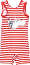 Swimsuit Stripe Badedrakt Badetøy Rød Mumin