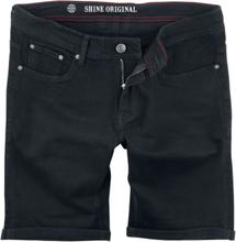 Shine Original - Regular Fit Denim Shorts Clean Svart -Shorts - svart