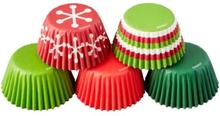Wilton Mini Muffinsformar Jul Röda Gröna 150st Baking Cups Holiday