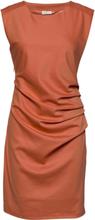 India Round-Neck Dress Polvipituinen Mekko Oranssi Kaffe
