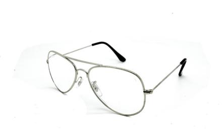 Cavok Läsglasögon Pilot med grad A lins 3.0, Silver