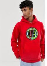 Obey Ball hoodie in red - Red