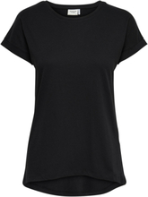 ONLY Solid Short Sleeved Top Women Black