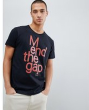 c80c2ddb625 Nudie Jeans Co Anders mend the gap organic cotton t-shirt in black - Black