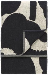 Marimekko - Unikko Badehåndklæde, Sort/Sand