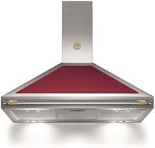 Bertazzoni Fläktkåpa K100HERVIA 100 cm, Heritage-serien, vinröd