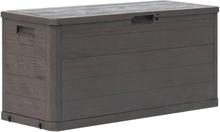 vidaXL Puutarhan varastoarkku 280 litraa ruskea