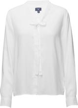 O1. Tp Oxford Bow Blouse Blus Långärmad Vit Gant