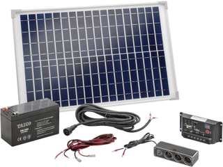 Esotec Poly 120005 Solcells-kit 20 Wp inkl. batteri, inkl. anslutningskabel, inkl. laddare