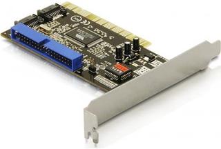 DeLOCK PCI-kontrollerkort 2xSATA + 1xIDE-diskar, RAID 0,1,0+1, JBOD