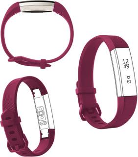 Fitbit Alta adjustable twill texture sport watch strap - Size: L - Purple