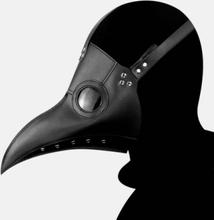 1 STÜCK Halloween Mittelalter Steampunk Pest Arzt Vogel Maske PU Kunstleder Punk Cosplay Masken Lange Nase Schnabel Erwa