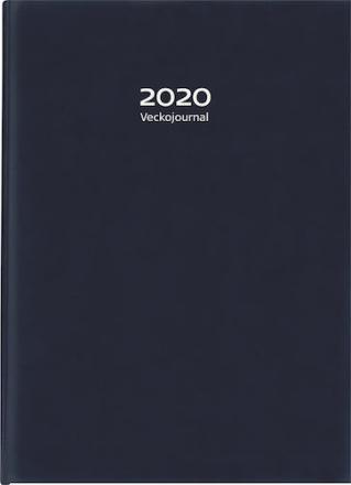 Veckojournal 2020 k-läder mblå