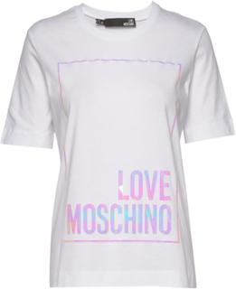Love Moschino T-Shirt T-shirt Top Hvid Love Moschino