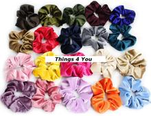 Scrunchie hårsnodd stor (finns i 14 färger) i velour