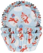Snögubbe Muffinsformar Snowman Julmuffins 50st - House of Marie