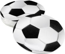 6 stk Glassbrikker - Fotballparty