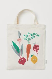 H & M - Tekstilpose med myke leker - Hvit