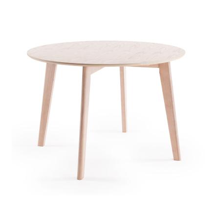 Department - Look Spisebord Ø 110 cm, Hvidpigmenteret Egetræ