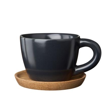 Höganäs - Höganäs Espressokrus med Underkop, Grå Mat