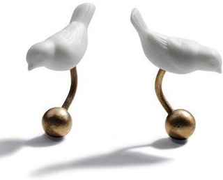 Lladro - Magic forest cufflinks (gold plated)