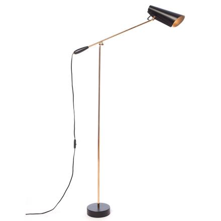 Northern - Birdy Standerlampe, Sort/Messing