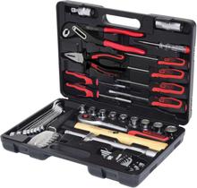 """KS Tools Universell verktygssats 49 delar kromstål 1/4"""" + 1/2"""