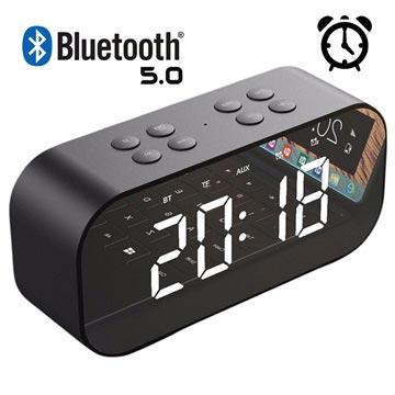 AEC BT501 Bluetooth-højtaler med LED Vækkeur - Sort