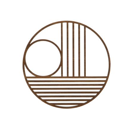 Ferm Living - Outline Circle Bordskåner