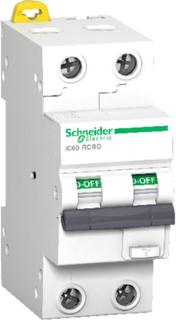 Schneider Jordfeilautomat IC60 2P 10A 30MA B 10kA Schneider Electric