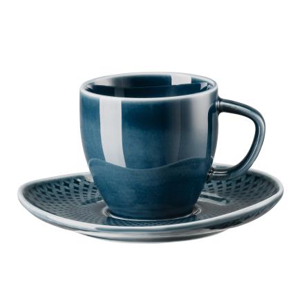 Rosenthal - Junto Espressokop & Underkop 8 cl, Ocean Blue