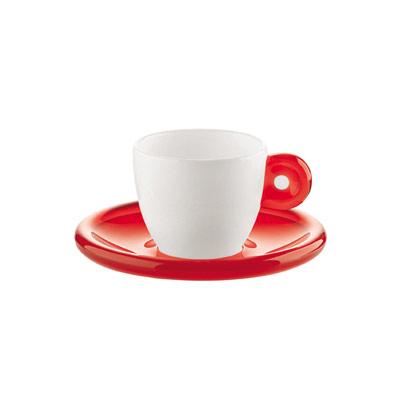 Guzzini - Espressokop 2-Pak, Rød