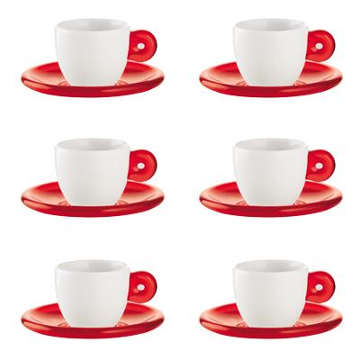 Guzzini - Espressokop 6-Pak, Rød