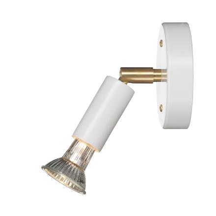 Örsjö Belysning - Star 1 Væglampe med Dæmper (ledning), Hvid