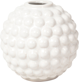 Broste Copenhagen - Dotty Vase Runde, Ivory