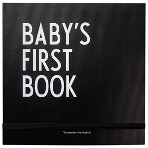 Design Letters Baby´s First Book Black