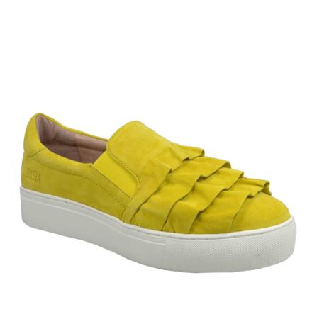Dasia Starlily Sneaker med volanger, gul