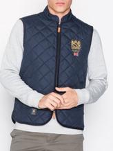 Morris Trenton Quilted Vest Jackor Blue