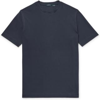 Slim-fit Cotton-jersey T-shirt - Storm blue