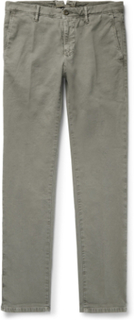 Slim-fit Stretch-cotton Trousers - Gray