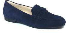 Gabor Loafer med knut, blå mocka