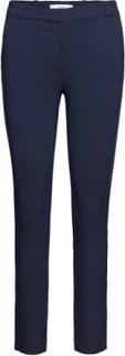 Crop Slim-Fit Trousers Slimfit Bukser Blå MANGO