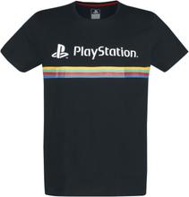 Playstation - Playstation Logo Color Stripe -T-skjorte - svart